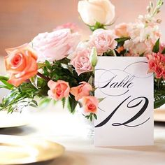 Our Marriage table numbers looking fabulous next to a blooming pink centerpiece! Photo: @hollygraciano Repost: @everylastdetailblog  This elegant, beautiful table number by @shinewedding captured by @hollygraciano was one of our favorites from 2015! Se