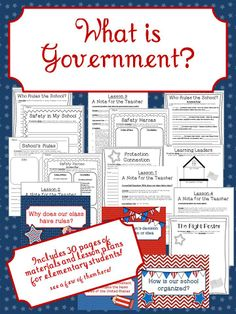 This unit will teach students about the purpose and need for government, how the government gains its power from the people, and it will introduce the concept of a written constitution. #socialstudies #government #school