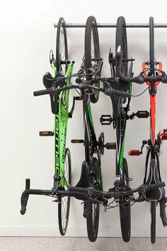 Find a monkey bar to store all your wheels, so it's now easier to get the bikes on and off the rack.