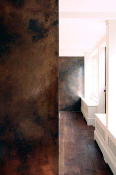 bronze wall texture sliding doors