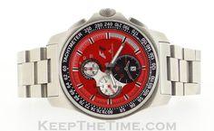 e252062cce2 Jacques Lemans Formula 1 F1 Red Chronograph Alarm F5015  F5015 F5015C     KeepTheTime.com