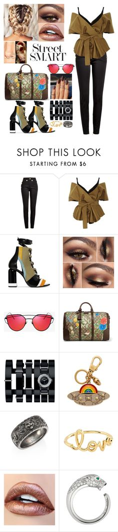 """The Date Night Show"" by iffieluv ❤ liked on Polyvore featuring Balmain, Acler, Pierre Hardy, Gucci, Chanel, Sydney Evan, Cartier and Mike Saatji"