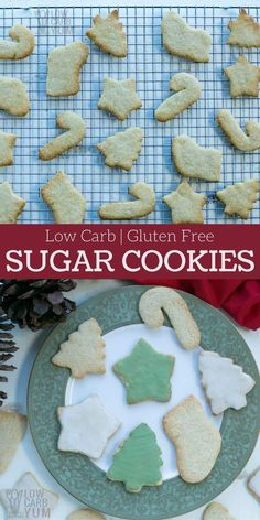 Simplelow carb keto sugar cookiesare perfect for any holiday or special occasion. These sugar-free and gluten-free treats are sure to be loved by all. #keto #lowcarb #glutenfree #sugarfree | LowCarbYum.com via @lowcarbyum