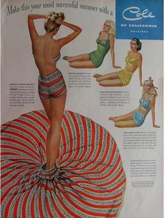 Women's swimsuit ad from the 1940s
