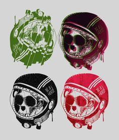 Be a hero ! on Behance #skull #bones #monkey