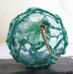 Glass fishing Net Float Authentic Nautical home by StayaFLOAT, $20.00