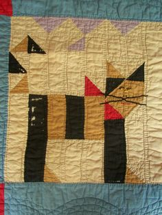 Wonderful Kentucky Child's Quilt Dated & Signed August 10 1928 (one of the blocks)