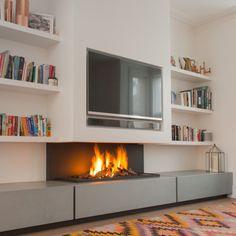 tv above fireplace, modern gas fire, designer fireplaces