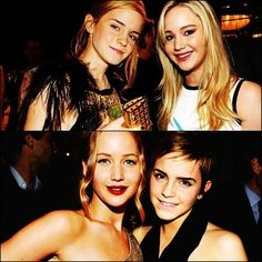 Jen and Emma - I love them both so much, I don't know how to handle this picture. <3
