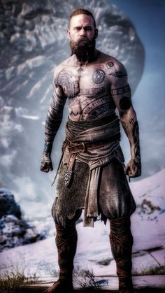 Baldur The Stranger Viking Life, Viking Warrior, Kratos God Of War, War Tattoo, God Tattoos, Nordic Tattoo, Monkey King, Viking Tattoos, Norse Mythology