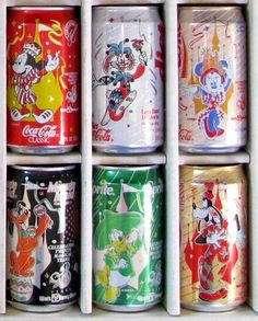 """Coca-Cola - Disney """"Mickey and Friends"""" collector series #packaging PD"""
