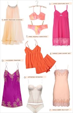 Lingerie Picks by the Wedding Chicks