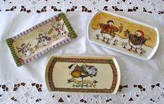 Le porcellane di Morena: Natale.... porcellane dipinte a mano hand painted christmas dinnerware - dish ornaments