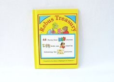 Vintage Children's Book Rebus Treasury by HipCatRetroVintage