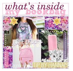 """""""☼; what's in my bookbag? by hannah"""" by ocean-clique-xo ❤ liked on Polyvore featuring beauty, SHAN, PG Beauty, Shay, ...Lost and madebyhannahe"""