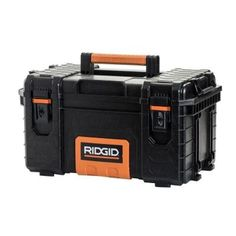 22 in. Pro Tool Box, Black Metal Stopper Holds Lid Open -- Awesome products selected by Anna Churchill