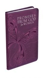 PROMISES FROM GOD FOR WOMEN is a 100 x 178 mm gift-book with a foiled title. Full-color insides with a ribbon marker. Only R110.