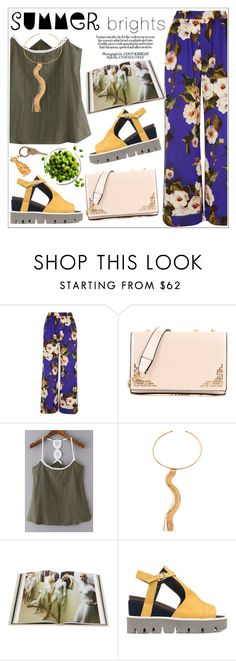 """Summer Brights"" by teoecar ❤ liked on Polyvore featuring Dolce&Gabbana, Rizzoli Publishing, Strategia, Charlotte Olympia and summerbrights"