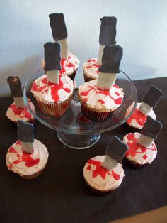scary food cupcakes halloween