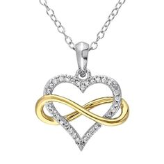 Zales Unstoppable Love 4.4mm Lab-Created Pink Sapphire and Diamond Accent Double Heart Pendant in Sterling Silver jJ6ESF3p