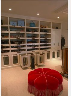 Walk In Closet Features Boot Storage Great Pull Out Shoe Shelves And Drawers