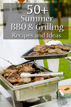 100+ Summer BBQ Grilling and Picnic Recipes & Ideas.  What to make, how to decorate and how to celebrate.   Drinks, entrees, side dishes and appetizers.. everything you could need for a perfect summer picnic