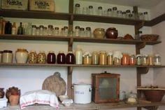 Old fashioned larder shelves