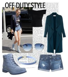 """Gigi hadid style"" by sarahpl13 ❤ liked on Polyvore featuring AG Adriano Goldschmied, L.K.Bennett, Timberland, LULUS, Christian Dior and Chicwish"