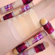 Make up inspiration Can't deal with dark circles or fine lines? Try fan favorite, instant age rewind Makeup Swatches, Makeup Dupes, Skin Makeup, Makeup Cosmetics, Beauty Makeup, Makeup Brushes, Contouring Makeup, Maybelline Concealer, Maybelline Powder