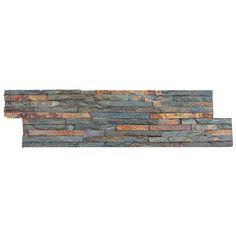 Anatolia Tile Oxide Ledgestone Slate Wall Tile Common 6