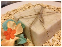Homemade Oatmeal soap - Sounds easy and would make a great gift!