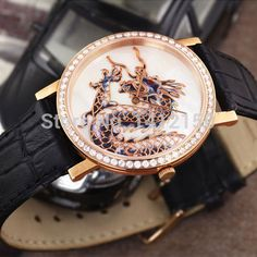 Beautiful dragon design wristwatch for the special man in your life! #wristwatch #dragon #chinesedragon #chinese #watches #whitewolfwatchshop