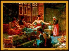 El término harem deriva de la palabra harâm que sirve para designar todo aquello que es tabú, prohibido por la religión