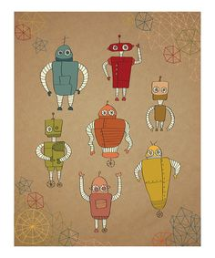 Little #Robots #Print from Parada Creations on #zulily