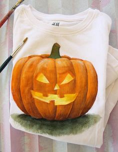 Jack-O-Lantern shirt Jack O Lantern Pumpkin t-shirt Unique Gifts For Boys, Gifts For Girls, Halloween Painting, Pumpkin Stencil, Scary Pumpkin, Halloween Jack, Jack O, Fabric Painting, Tshirt Colors