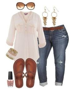 Cute plus size outfits for summer by AislingH