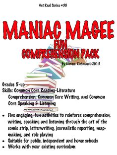 maniac magee two mills times newspaper design activity times maniac magee fun comprehension pack common core