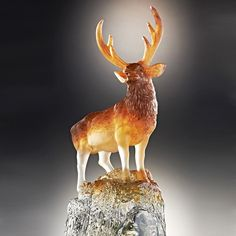 """A Symbol of Good Luck In Chinese, the word deer """"Lu"""" is homonymous with the word """"Lu"""" meaning wealth of the three words of good omen: """"Fu, Lu, Shou""""."""