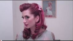 Faux Victory Rolls Vintage Hair Tutorial by CHERRY DOLLFACE, via YouTube.