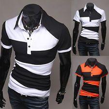 New Fashion Men's Boy Slim Fit Casual Polo Shirt T-Shirt Long/Short Sleeve