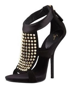 Giuseppe Zanotti shoe with gold studs in the front