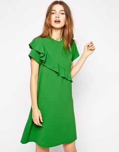 Ganni 60s A Line Dress with Frill