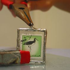 postage stamp necklaces... (tutorial added.) - JEWELRY AND TRINKETS