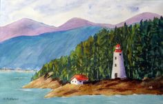 On the Coast  Original Watercolor Painting by halinapl on Etsy, $79.00