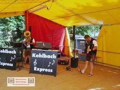 Stadtseefest Pfullendorf Stegstrecker, Kehlbach Express spielen auf dem Stadtsee, BauFachForum Baulexikon Seepark Pfullendorf Thema: Von Schlagern, Polka, Steirische Musi bis hin zum Rock und Roll.