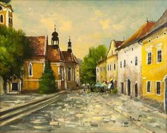 Benda Zoltán: Napfényes Kőszeg Budapest Hungary, Oil Paintings, Painters, Artists, Oil On Canvas, Artist