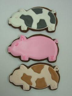 images of chocolate decorated cookies Pig Cookies, Roll Cookies, Cut Out Cookies, Cute Cookies, Sugar Cookies, Cookie Time, Cookie Cups, Images Of Chocolate, Pig Farming