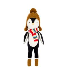 Everest the penguin helps feed children in need. 1 doll = 10 meals.
