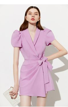 Modern Outfits, Classy Outfits, Stylish Outfits, Event Dresses, Casual Dresses, Fashion Dresses, Classy Short Dresses, Mode Purple, Ulzzang Fashion