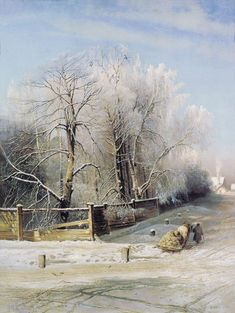 Alexei Savrasov - Winter landscape. Moscow  (oil on canvas, 1873)